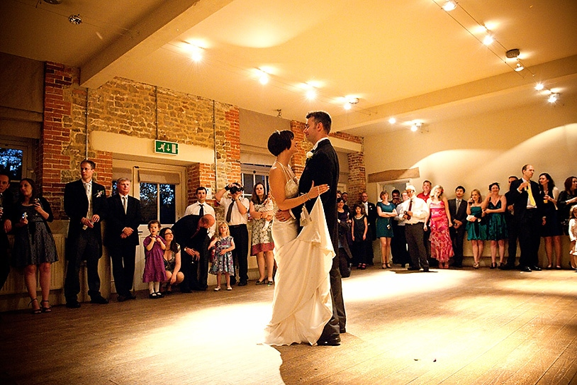 first dance in the courtyard room