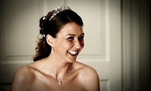 Laughing bride, documentary wedding photography