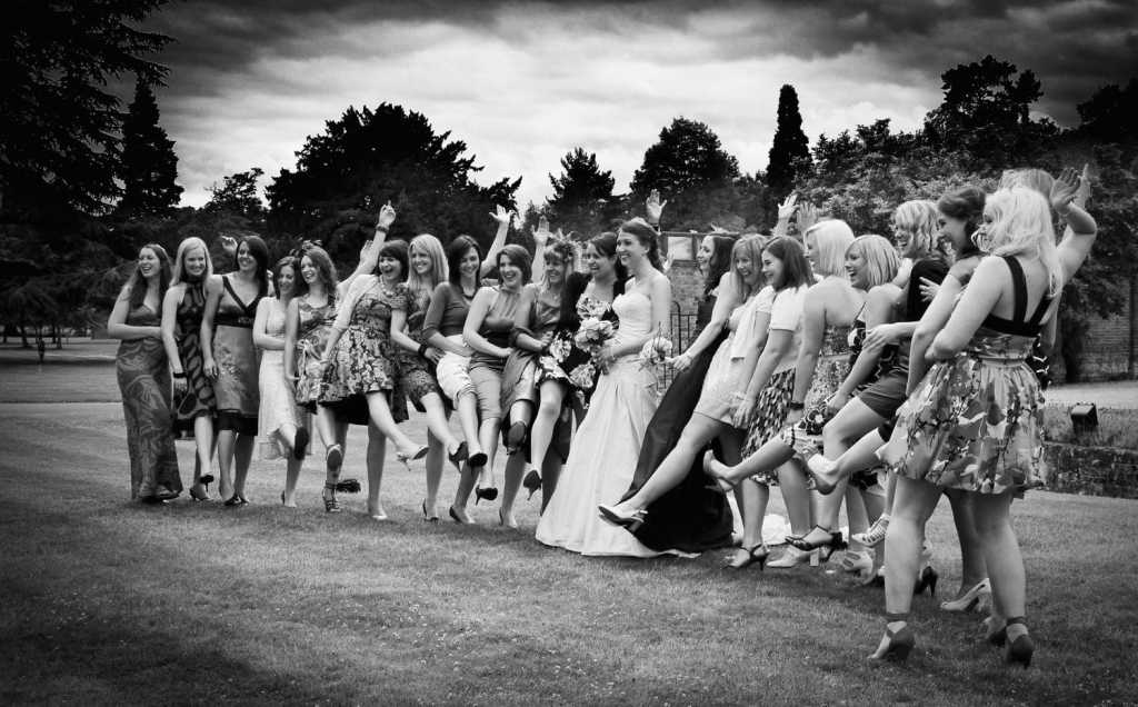 Fun wedding group shots with the girls at Warbrook Park