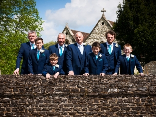 Grooms and his Groomsmen, St Lawrence, Seale