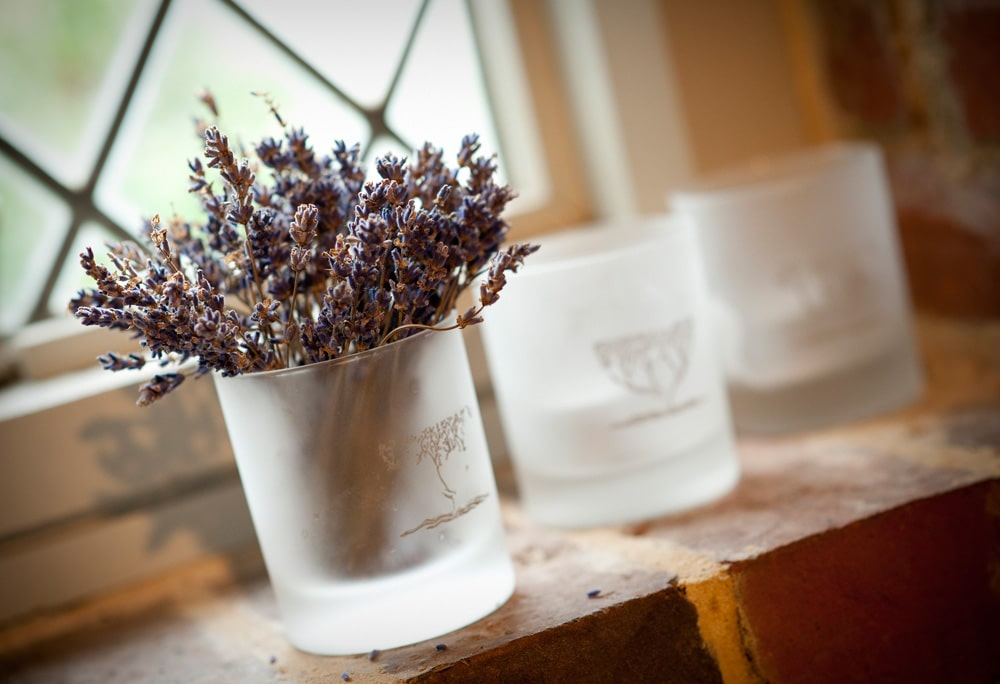 Lavendar Jar decoration, wedding flowers