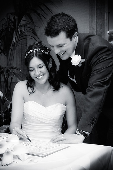 Signing the register, civil marriage