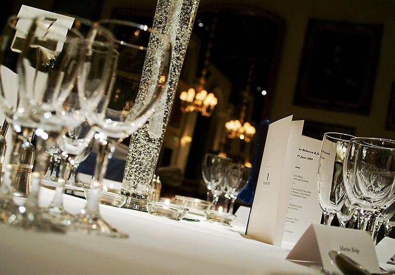 Evening wedding reception, wentworth golf club