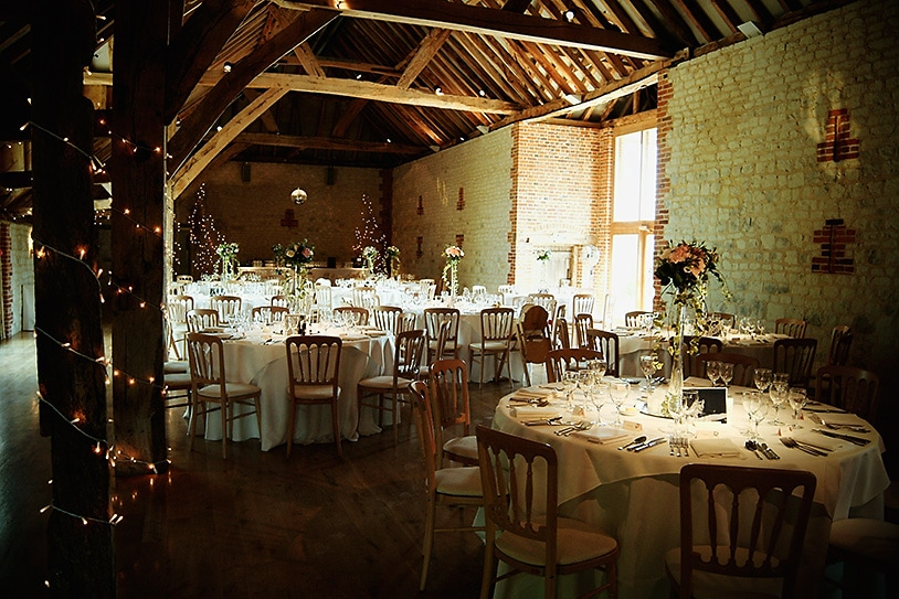 The Barn at Bury Court Wedding Breakfast
