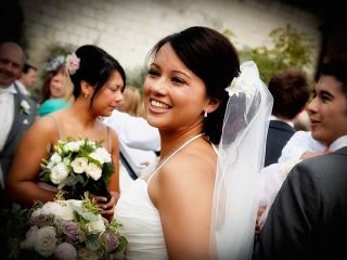 Stunning Bride at The Barn at Bury Court, Bentley, Surrey