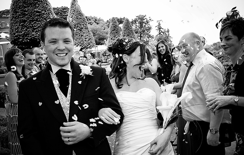 Confetti photograph at Wentworth Club