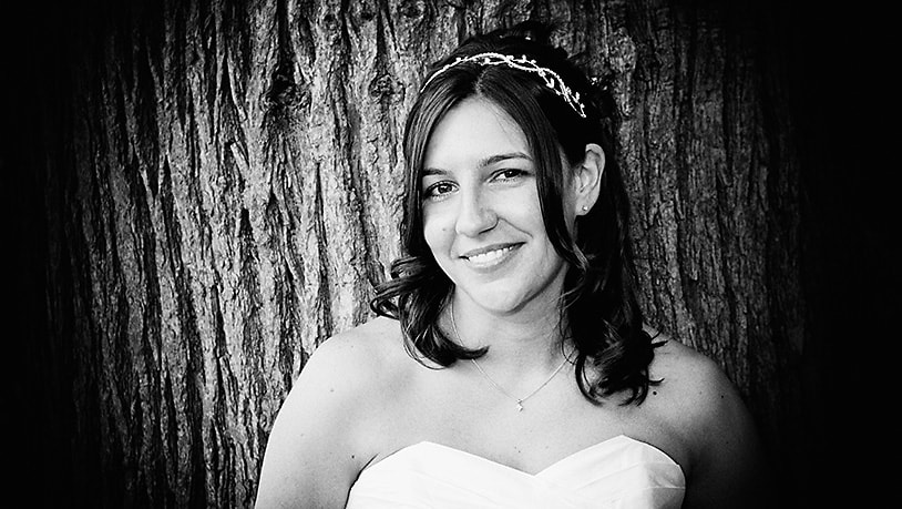 Bride in the grounds of Wentworth Club photographer