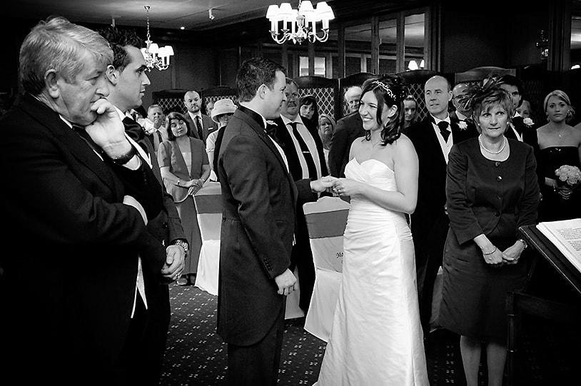 Civil ceremony exchange of vows