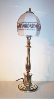 Edwardian silver-plated table lamp, circa 1905