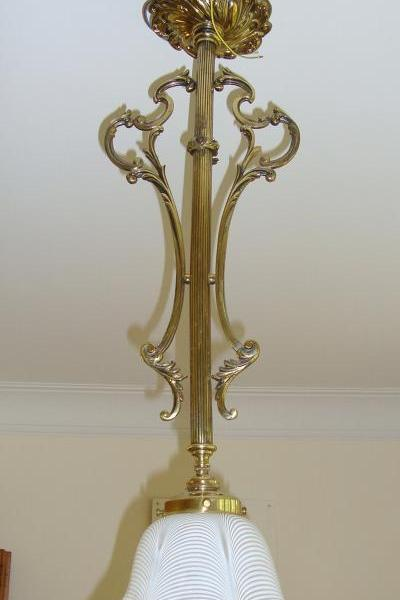 "English neo-classical ""rod"" ceiling lamp, early circa 20th"