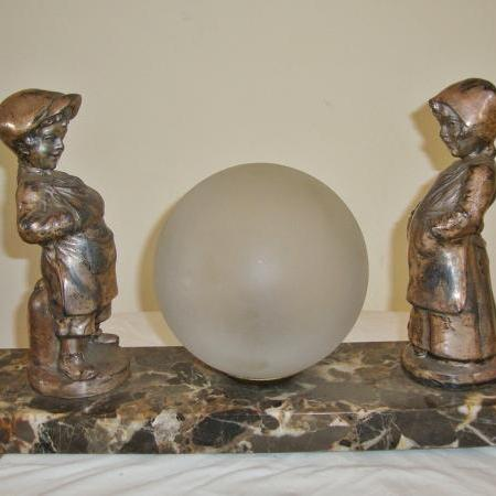 French art deco spelter figural group, circa 1935