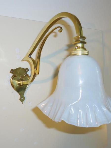 General Electric Company cast-brass wall lights, circa 1910