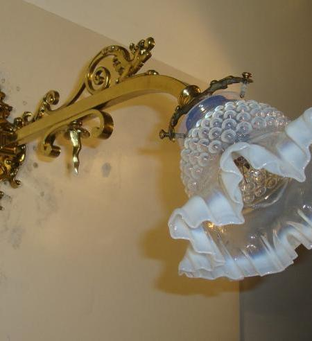 French neo-classical brass wall lights, circa 1905