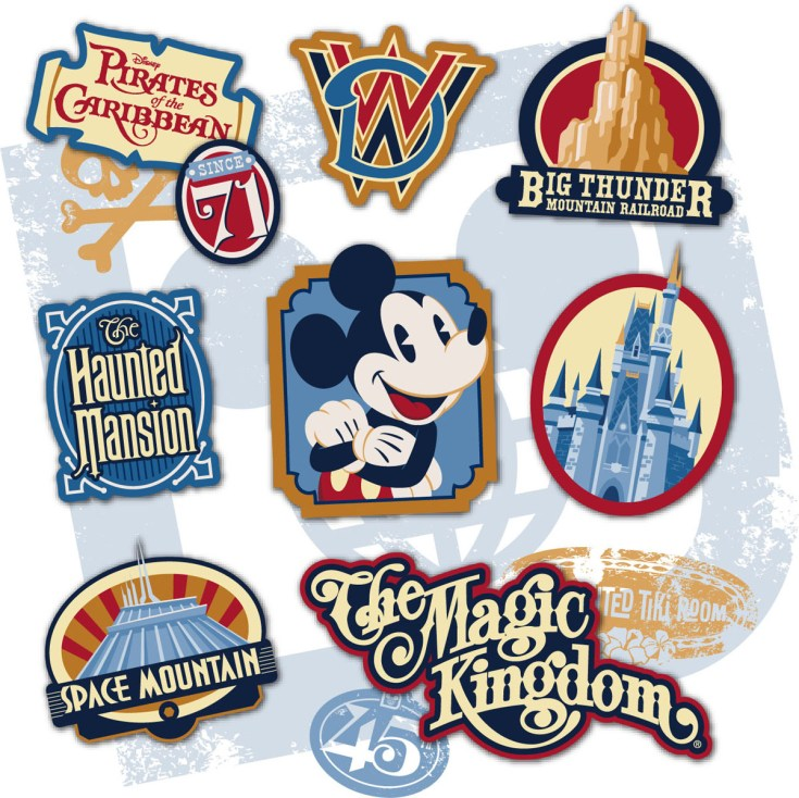 Magic Kingdom 45th Anniversary Merchandise Artwork Revealed