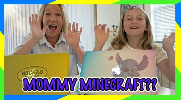 Mommy Versus Hunter in Minecraft Challenge!