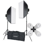 StudioFX-H9004SB2-2400-Watt-Large-Photography-Softbox-Continuous-Photo-Lighting-Kit-16-x-24-Boom-Arm-Hairlight-with-Sandbag-H9004SB2-by-Kaezi-0-1