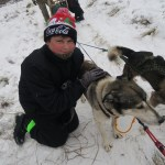 Kelly with the Sled Dogs