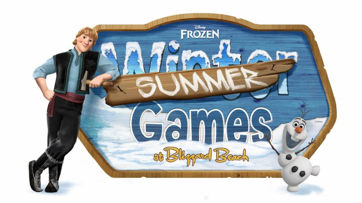 The 'Frozen' Summer Games return to Disney's Blizzard Beach Water Park with team activities, character greetings and fun competition.