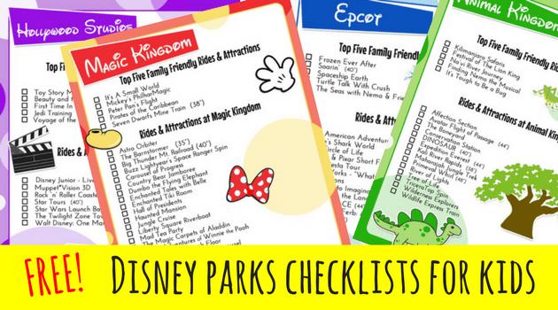 Disney Parks FREE Checklist Printables