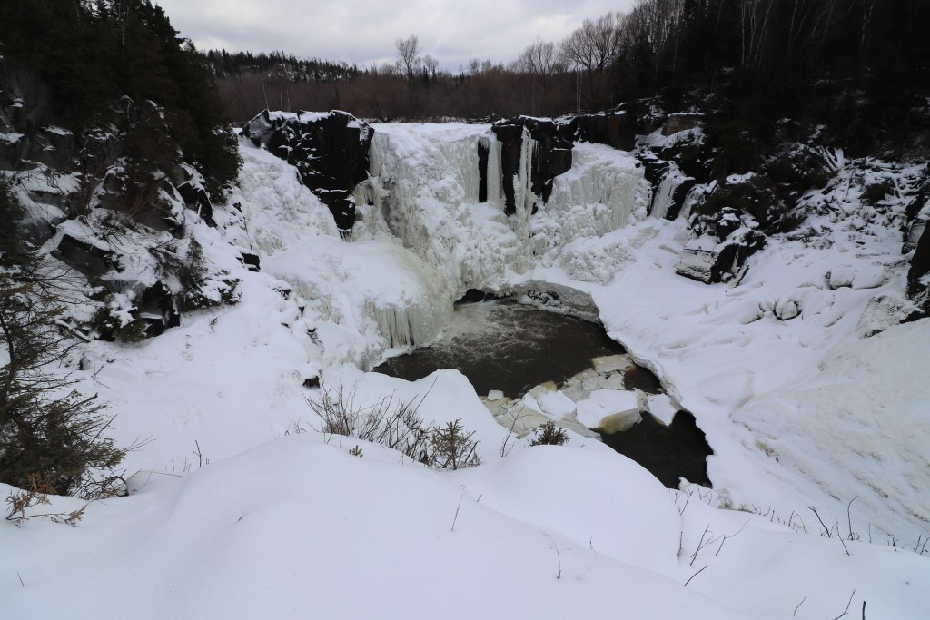 Minnesota's North Shore Frozen Waterfall