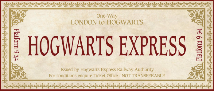 graphic about Hogwarts Express Ticket Printable named Reward Wizarding World wide of Harry Potter Props