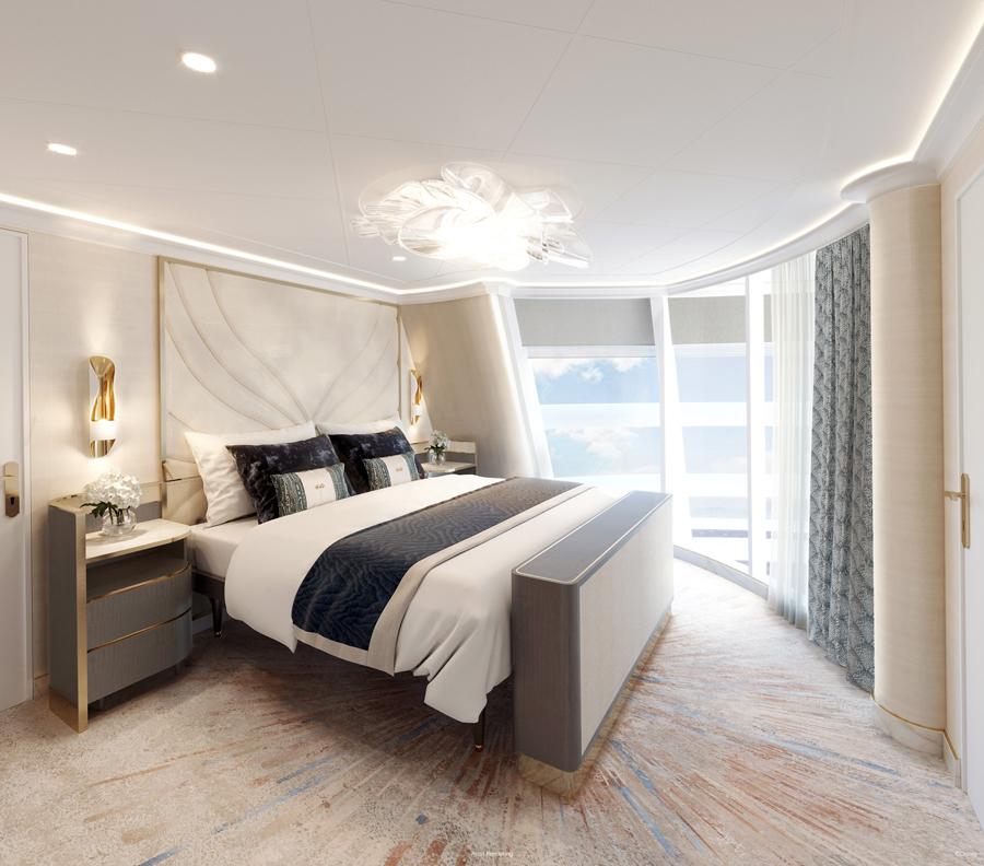 Wish Tower Suite Bedroom Image Courtesy Disney