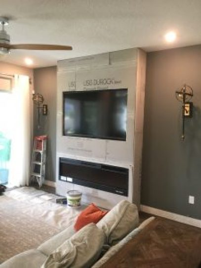 Stone Fireplace Accent Wall Mount Dora Carpenter