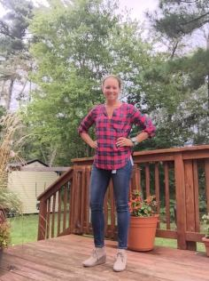 flannel, jeans shoes