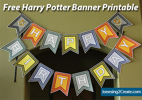 free harry potter printables and