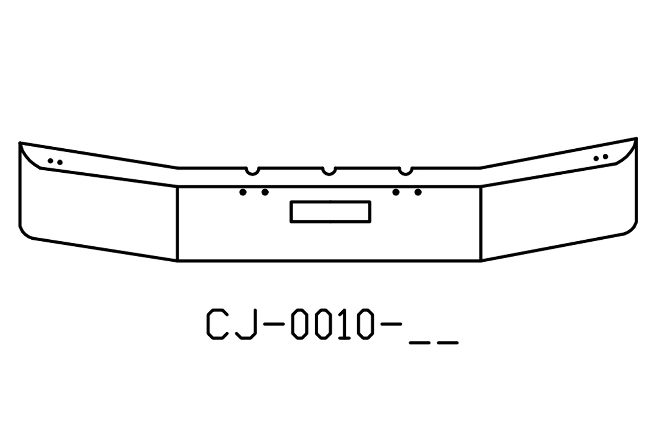 Freightliner Fld120 Bumper With Step Hole