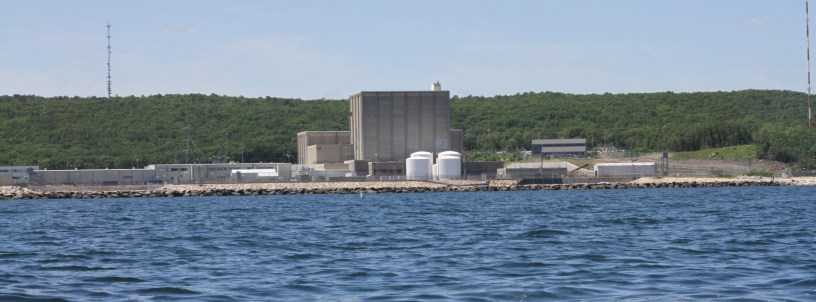 Pilgrim Nuclear Power Station on Cape Cod Bay