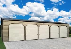 Multiple Garage Metal Building