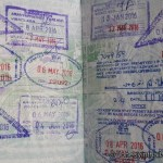 Thailand immigration stamps in passport