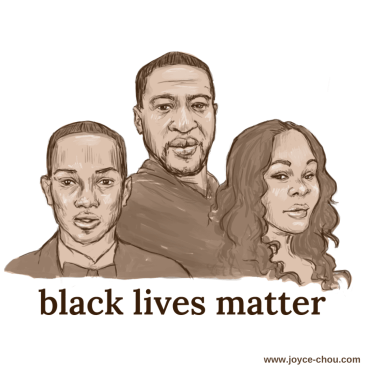 Drawing Black Lives Matter by Joyce Chou #blacklivesmatter #joycechou