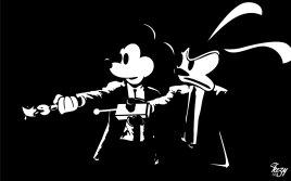 Epic Mickey Pulp Fiction Art
