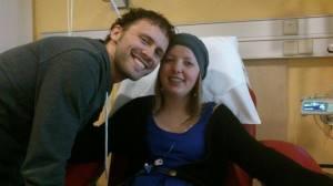 Samen met Marike tijdens een van onze vele ziekenhuisbezoeken