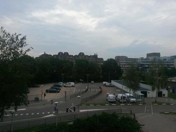 Het uitzicht: skyline Nieuwegein ;-)