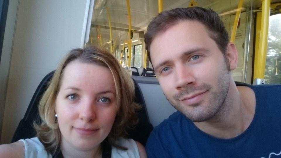 Misselijk van de zenuwen in de tram op weg naar het ziekenhuis
