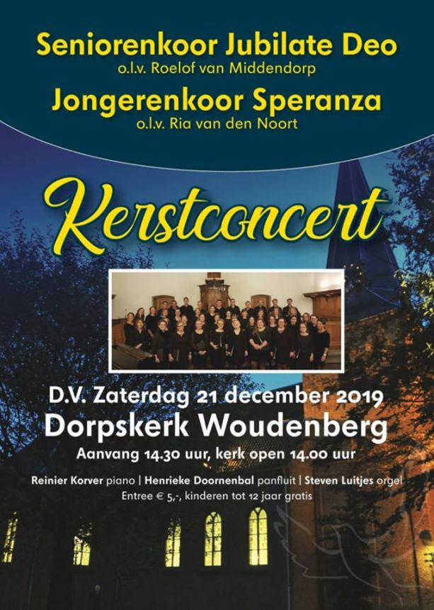 Kerstconcert 21 december
