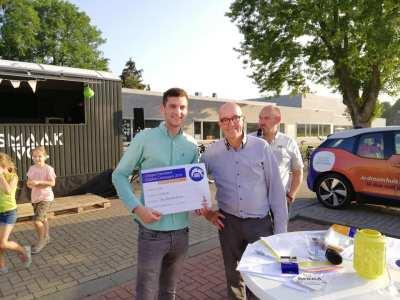 Uitreiking cheque Rabobank Clubkas Campagne