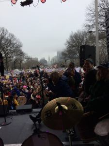 View from the stage, 1:21 Womens March