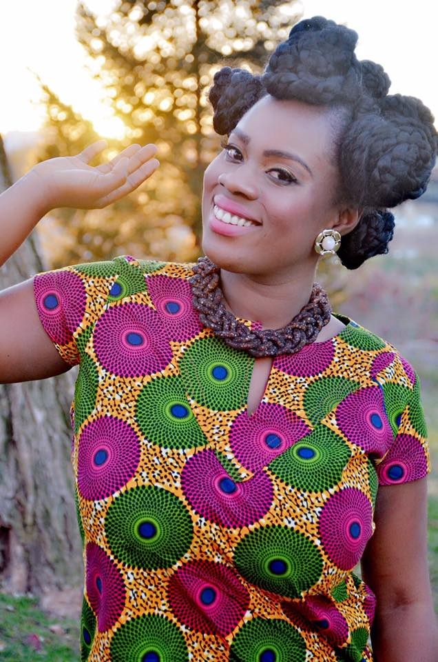 MaAkua,rising Ghanaian songstress looking awesome in her African wear.