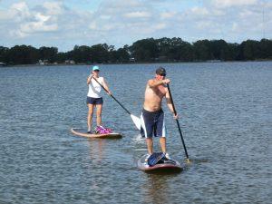 Paddling by paddleboard