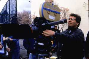 Director David Nutter behind the camera