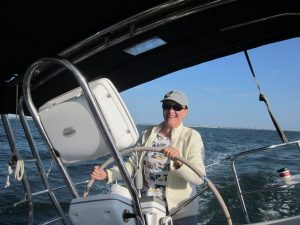Joni sailing for a moment