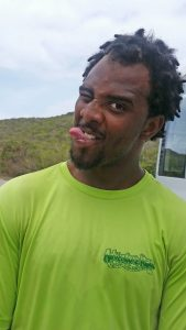 Meet Deniso, our hiking guide on St. Maarten. We didn't drive him crazy. We found him this way.