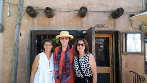 Jennifer Fromke, Normandie Fischer, and Joni M. Fisher in Old Town Albuquerque.