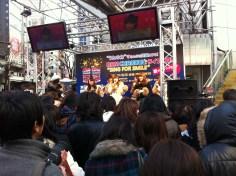 Pop singers at Shibuya