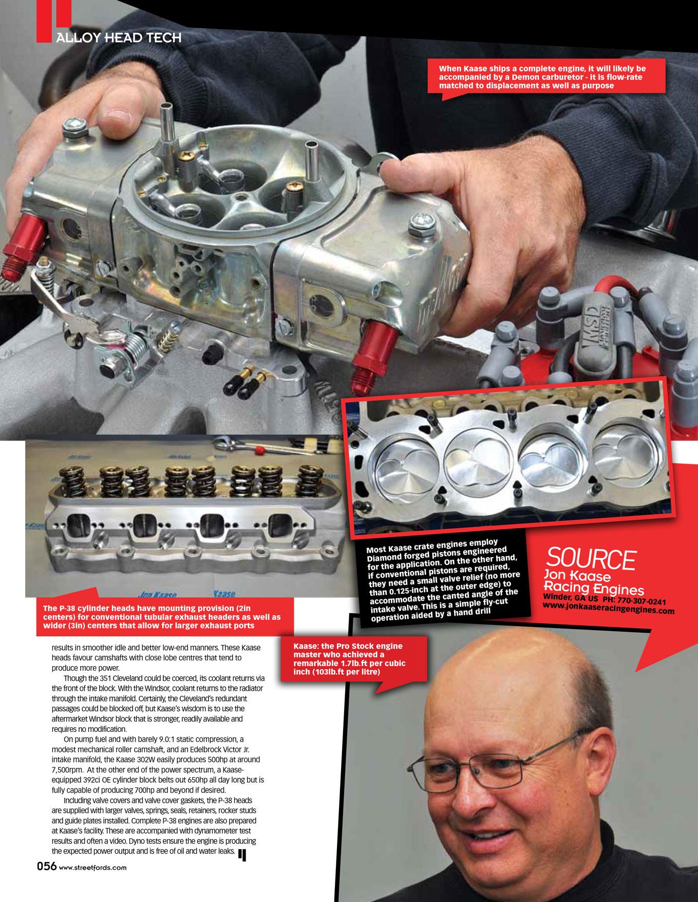 Street Fords Article, Vol 38, 2013 | Jon Kaase Racing Engines