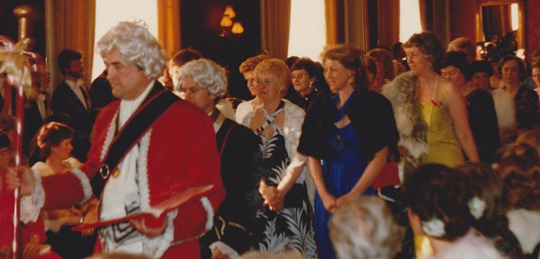 Inmarsch vid balen 1981